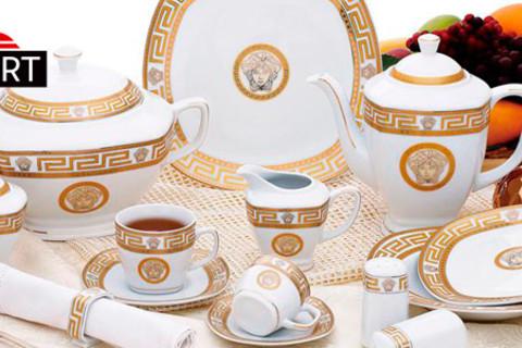 Фарфоровый сервиз Da Vinci Collection из 57 предметов от интернет-магазина Expert с бесплатной доставкой! Скидка 63%