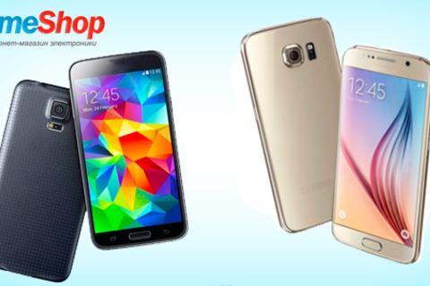 Мощные и стильные смартфоны Galaxy Note 4, Galaxy Note 5, S5 и S6 в интернет-магазине электроники TimeShop. Скидка до 57%