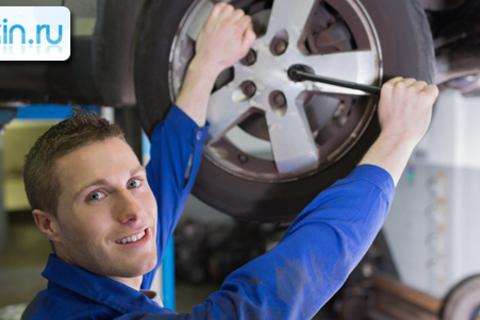 Шиномонтаж колес размером до 18 дюймов включительно для любого автомобиля в сети автомоек Moikin. Скидка до 69%