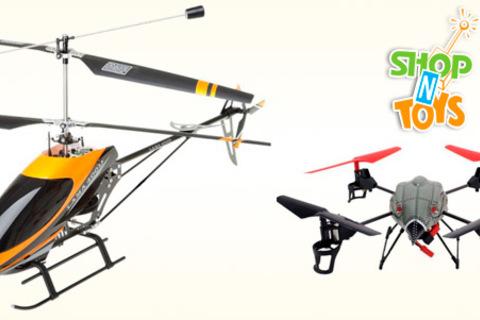 Радиоуправляемый вертолет или квадрокоптер на выбор от интернет-магазина «ШопНтойз». Скидка до 84%