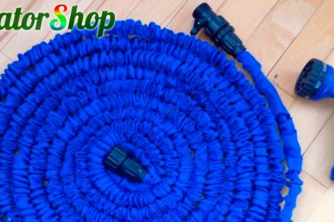 Шланг для полива Magic Hose длиной до 60 м + насадка-распылитель от интернет-магазина EquatorShop. Скидка до 66%