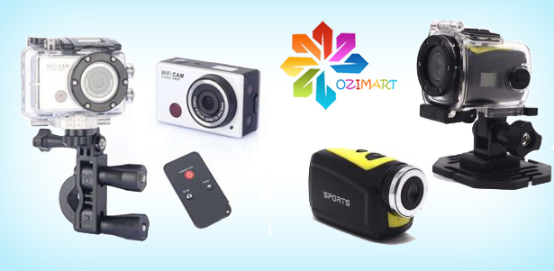 Экшн-камера Action Camcorder, Sports HD, Cross Action, Ambarella Full HD Wi-Fi + часы в интернет-магазине Ozimart. **Скидка до 40%**